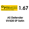 OPTIMIZE Single Vision 1.67 AS DEFENDER UV420 SATIN. АКЦИЯ!!